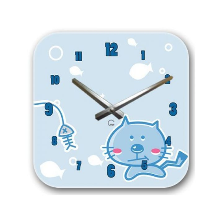 Настенные дизайнерские часы Glozis Kitty