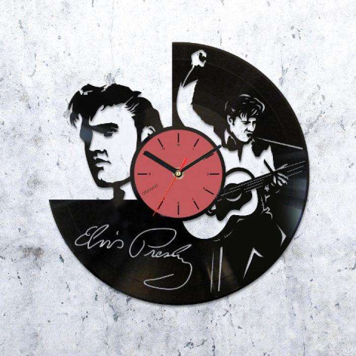 Виниловые часы Элвис Пресли