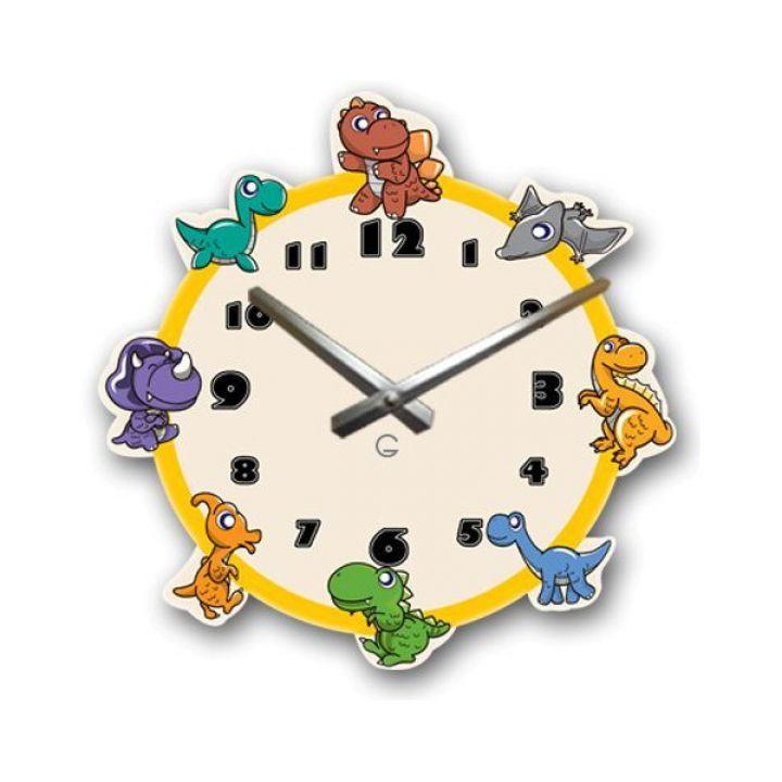 Настенные дизайнерские часы Glozis Dinosaurs