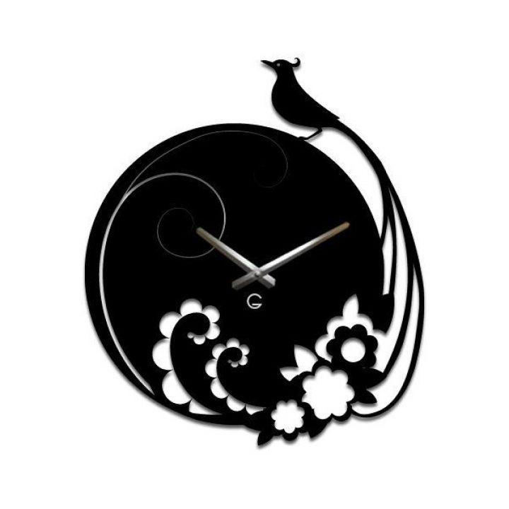 Настенные дизайнерские часы Glozis Peacock