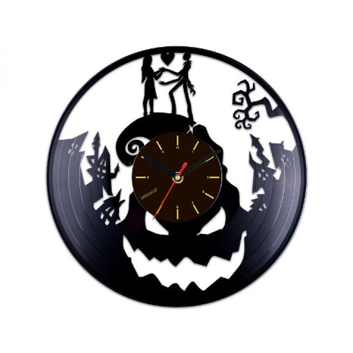 Виниловые часы Кошмар перед Рождеством. Любовь