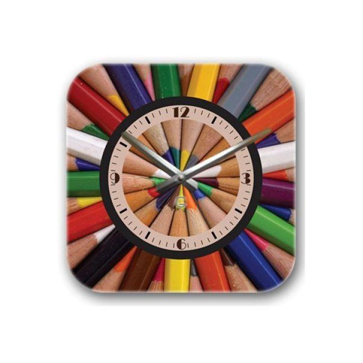 Настенные дизайнерские часы Glozis Pencils