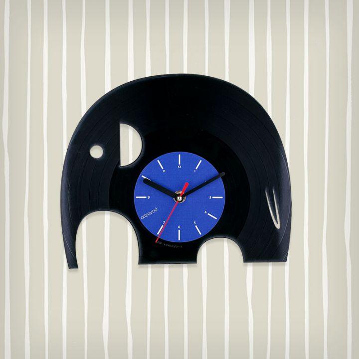 Виниловые часы Слоник