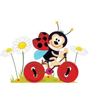Вінілова Наклейка Ladybug