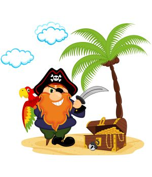 Виниловая Наклейка Pirate