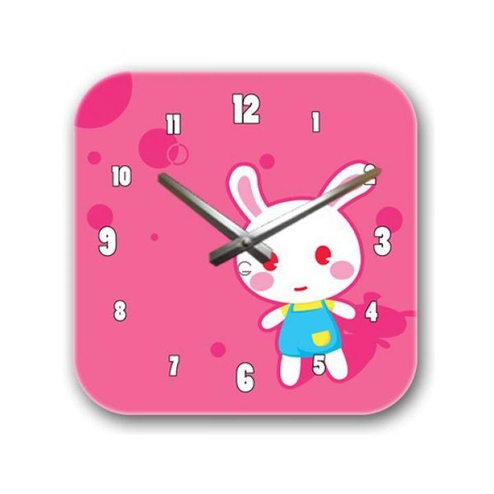 Настенные дизайнерские часы Glozis Bunny