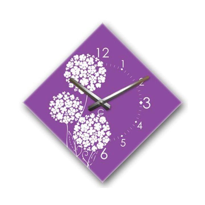 Настенные дизайнерские часы Glozis Violet