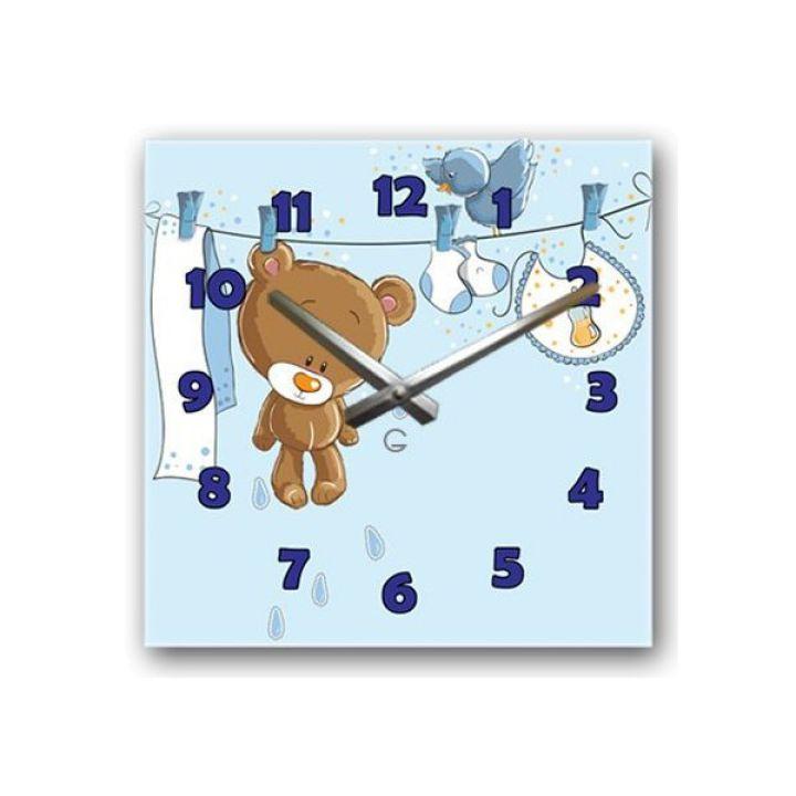 Настенные дизайнерские часы Glozis Teddy