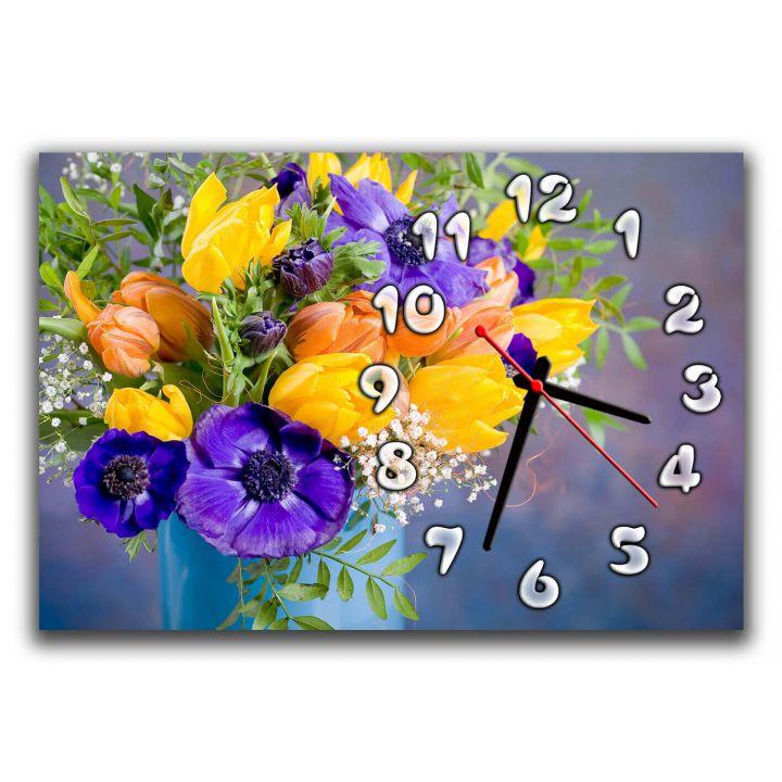 Настенные часы Нежный букет, 30х45 см