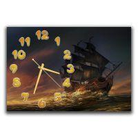 Настенные часы Гордый фрегат, 30х45 см