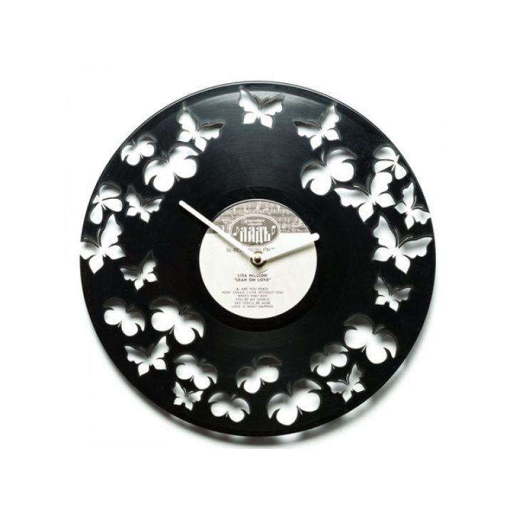 Виниловые часы на стену Бабочки