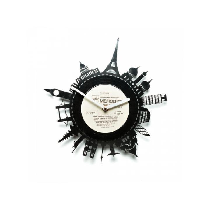 Часы из винила Путешествовать