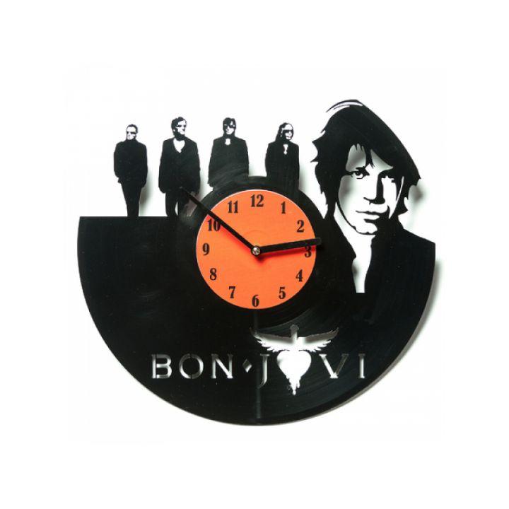 Виниловые часы на стену Bon Jovi