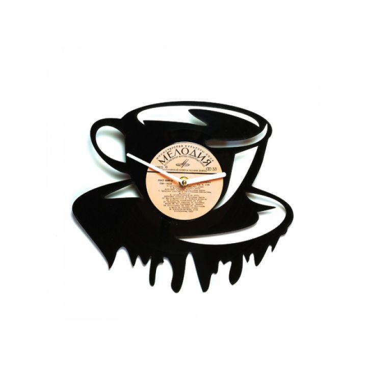 Часы из винила Чашка чая/кофе!