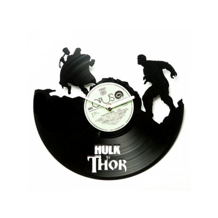 Часы из винила Hulk VS Thor