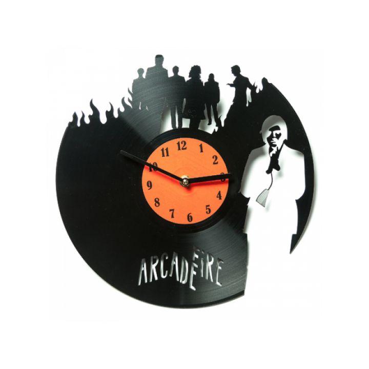 Виниловые часы на стену Arcade Fire
