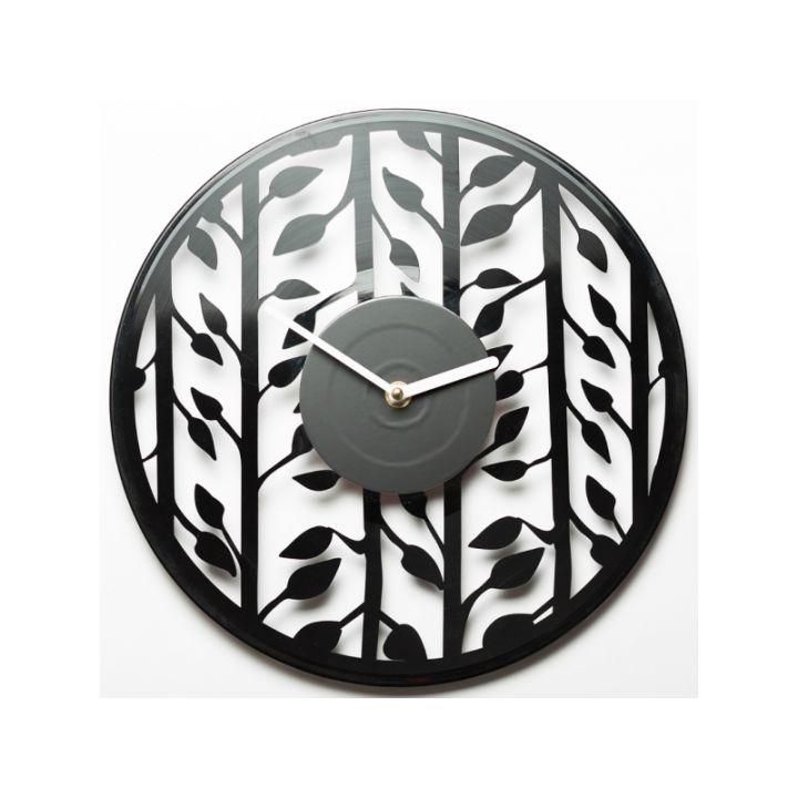 Часы из винила Leaves