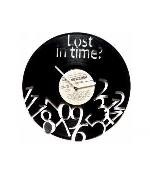 "Виниловые часы ""Lost in time"""