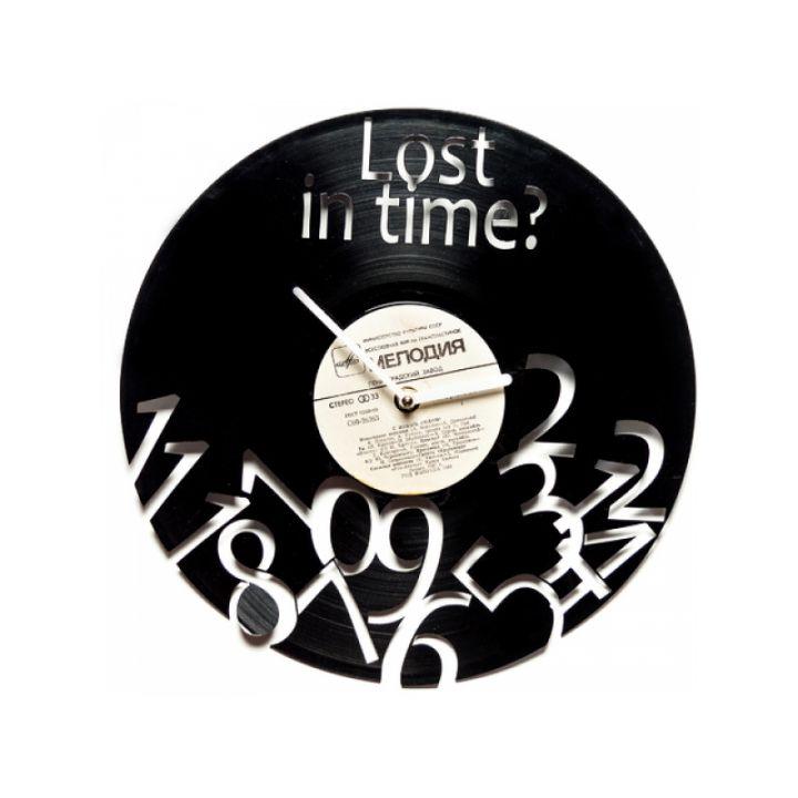 Виниловые часы на стену Lost in time