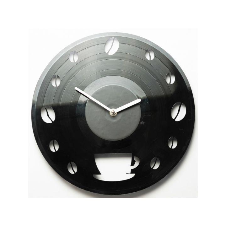 Виниловые часы на стену Coffee time