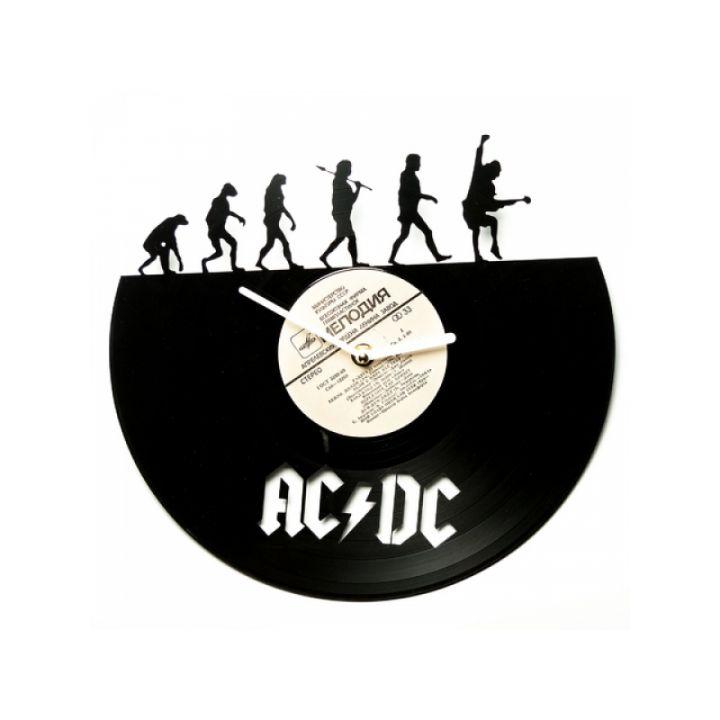 Часы из виниловых пластинок рок группы AC/DC evolution
