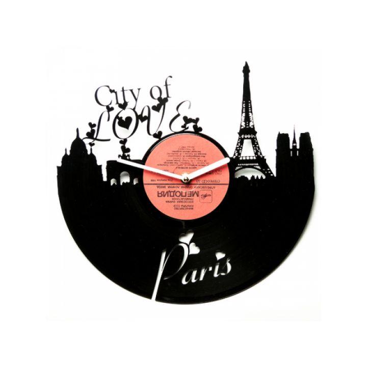 Виниловые часы на стену City of Love
