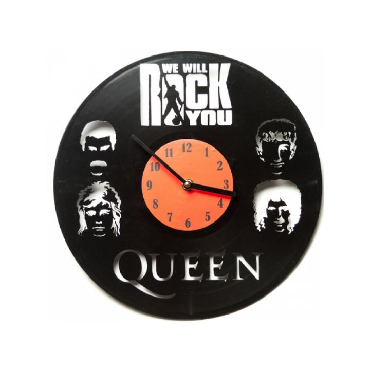 Виниловые часы на стену Queen: We will rock you