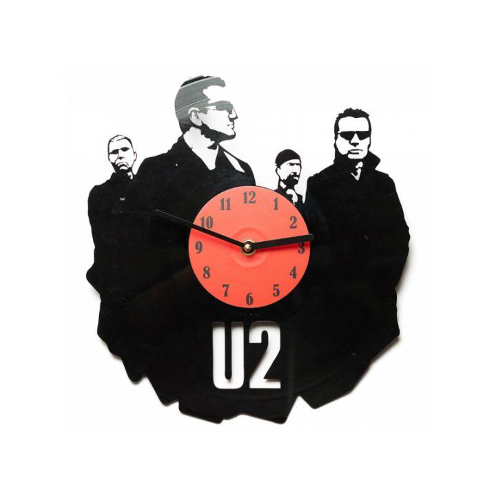 Виниловые часы на стену U2