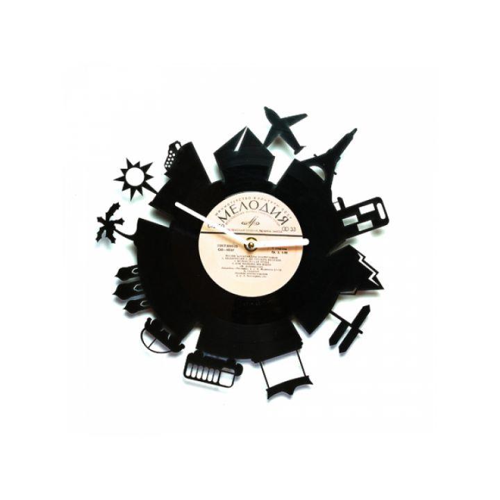 Виниловые часы на стену Вокруг Земли