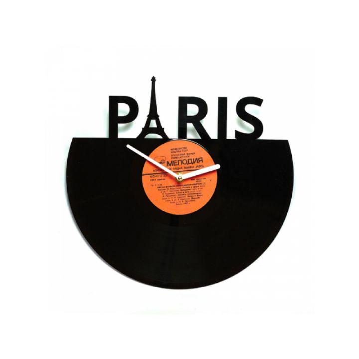 Часы из винила Париж