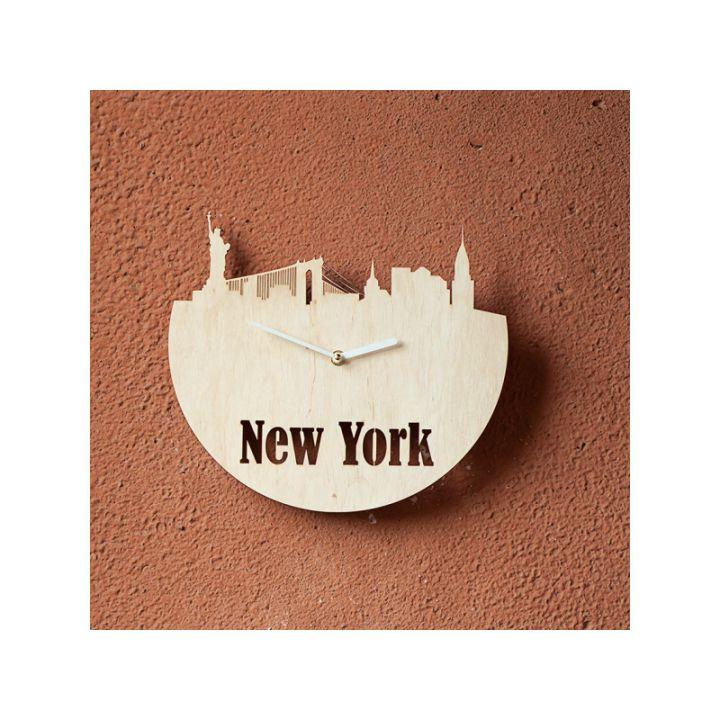 Деревянные настенные часы Нью-Йорк