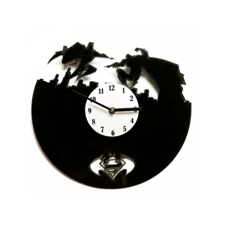 Часы из винила SupermanVSBatman