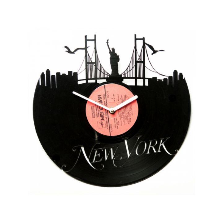 Часы из винила Романтичный Нью-Йорк