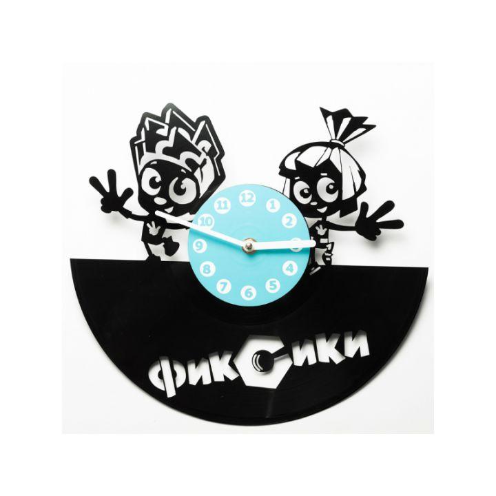Часы из винила Фиксики