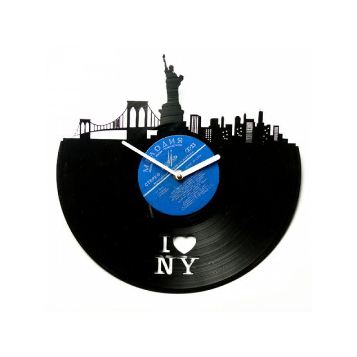 Часы из винила I love NY