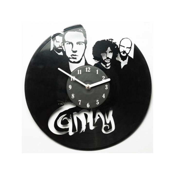 Виниловые часы на стену Coldplay