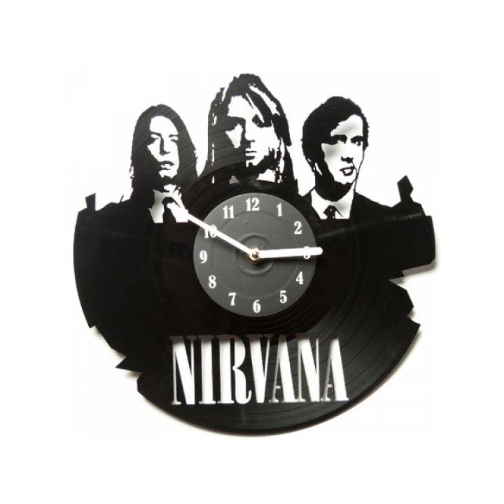 Виниловые часы на стену Nirvana