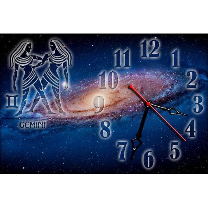 Годинник настінний зодіаку Близнюки