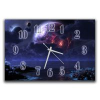 Настенные часы для зала Космическая панорама, 30х45 см