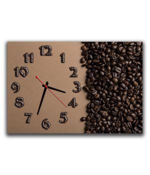 Годинник настінний для кухні Кавова соната, 30х45 см