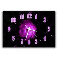 Настенные часы в детскую Цветочная нота, 30х45 см