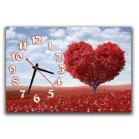 Настенные часы для спальни Дерево любви, 30х45 см