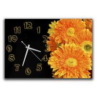 Настенные часы для кухни Желтые герберы, 30х45 см
