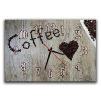 Настенные часы для кухни Люблю кофе, 30х45 см