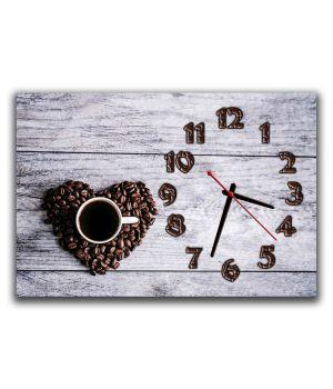 Годинник настінний для кухні Час кави, 30х45 см