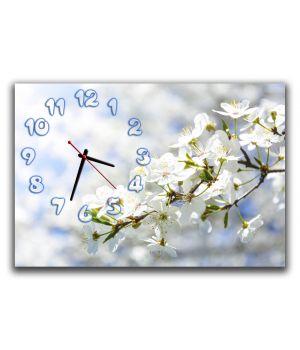 Настенные часы для кухни Вишневая ветвь, 30х45 см