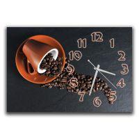 Настенные часы для кухни Кофейный час, 30х45 см