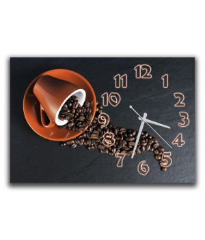 Годинник настінний для кухні Кавовий годину, 30х45 см