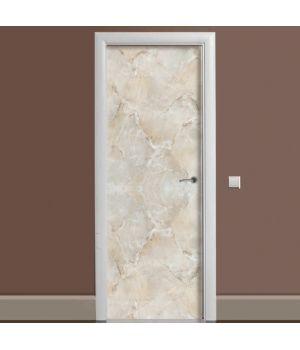 Наклейка на дверь Мрамор 01 беж 65х200 см