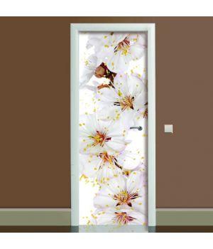 Наклейка на дверь Цветы вишни, 65х200 см